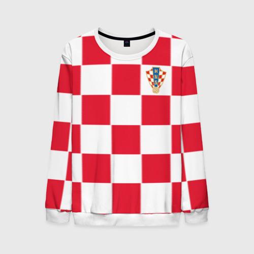 Мужской свитшот 3D Хорватия домашняя форма 2018