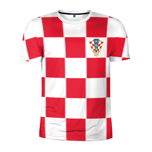 Мужская футболка 3D спортивная Хорватия домашняя форма 2018