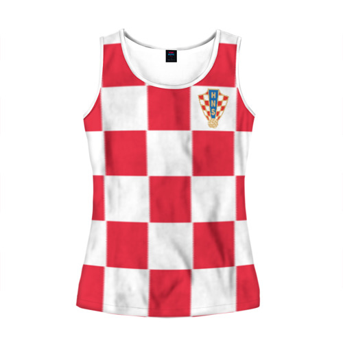 Женская майка 3D Хорватия домашняя форма 2018