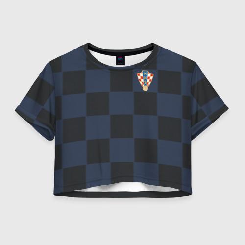 Женская футболка Crop-top 3D Хорватия форма гостевая 2018