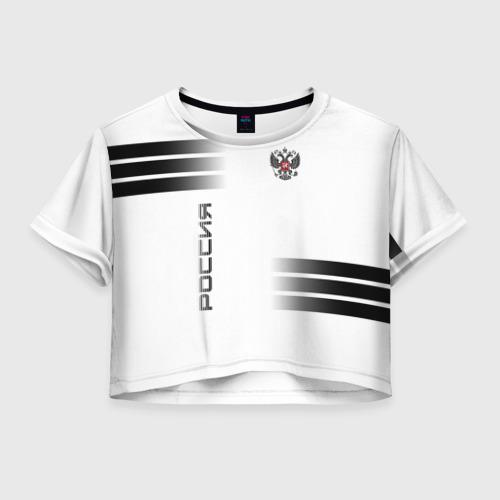 Женская футболка Crop-top 3D Россия