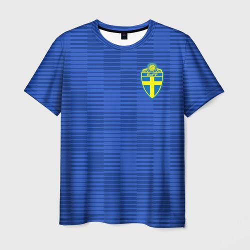 Мужская футболка 3D Швеция гостевая форма ЧМ 2018