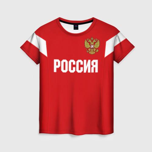 Женская футболка 3D Сборная России