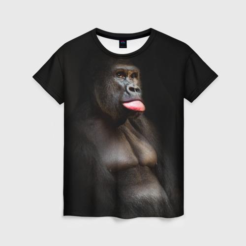 Женская футболка 3D Горилла
