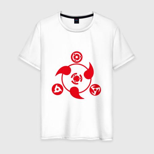 Мужская футболка хлопок Naruto красный символ