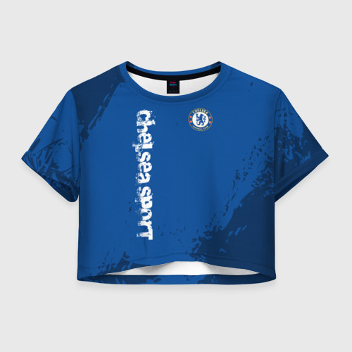 Женская футболка Crop-top 3D CHELSEA SPORT
