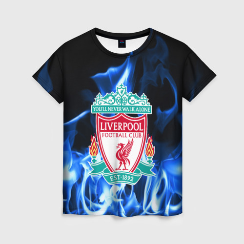 Женская футболка 3D LIVERPOOL