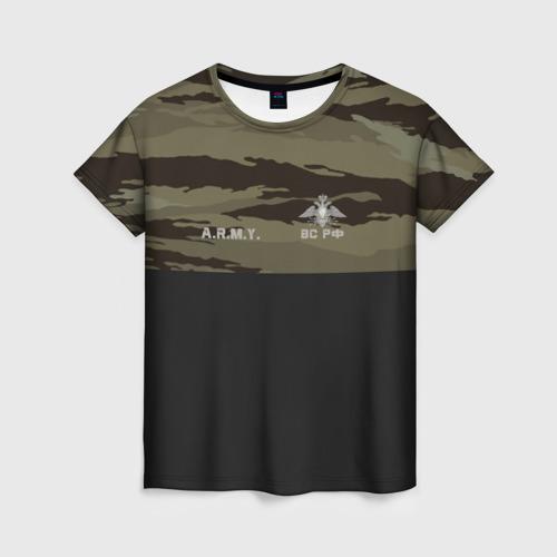 Женская футболка 3D Войска связи