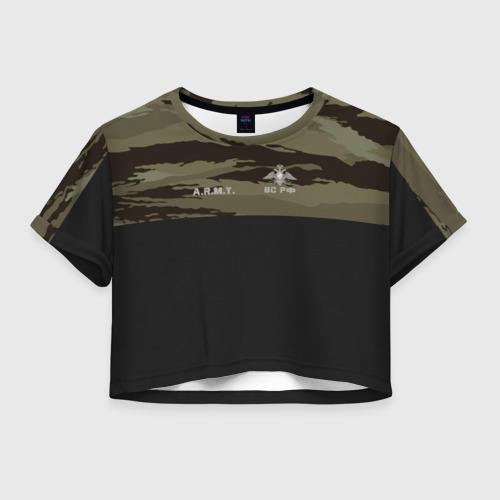 Женская футболка Crop-top 3D Войска связи