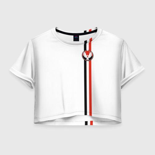 Женская футболка Crop-top 3D Удмуртская республика