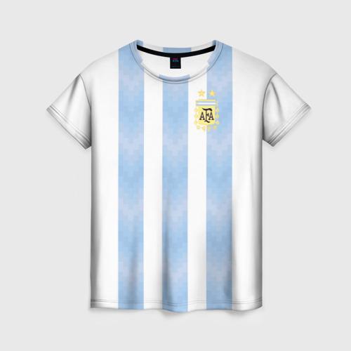 Женская футболка 3D Сборная Аргентины