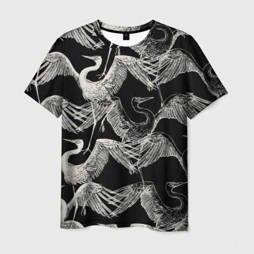 Мужская футболка 3D Белые Птицы
