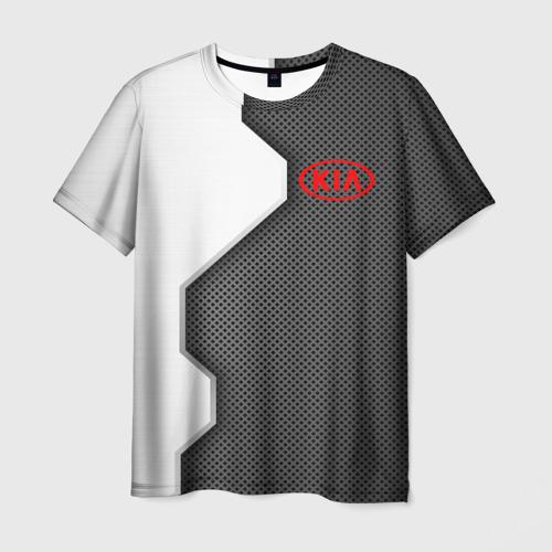 Мужская футболка 3D Kia sport uniform auto
