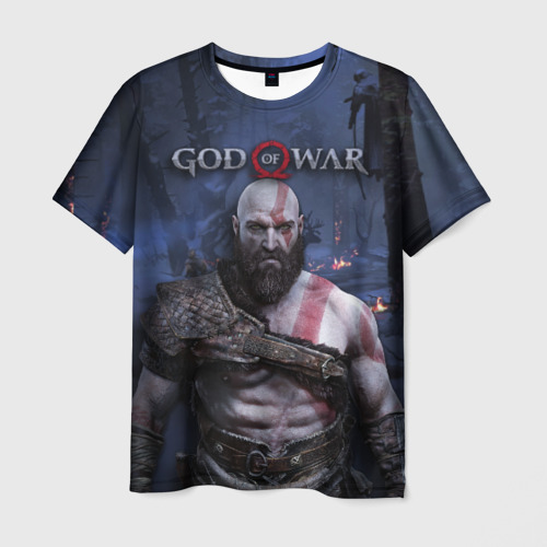 Мужская футболка 3D Кратос
