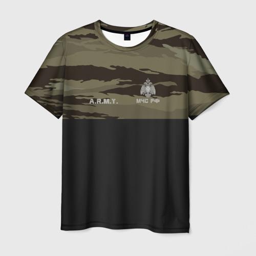 Мужская футболка 3D Камуфляж МЧС РФ