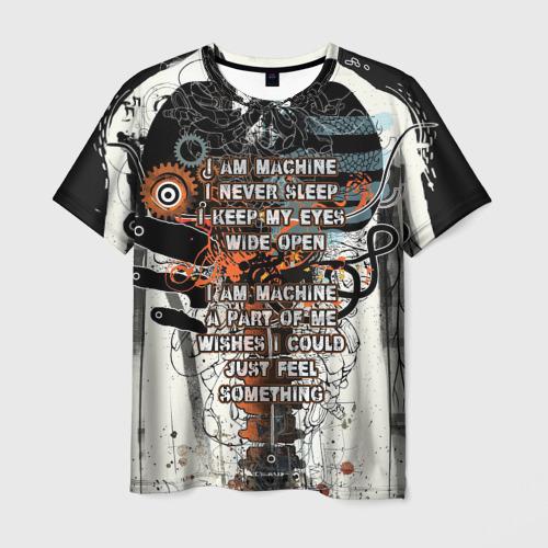 Мужская футболка 3D I am machine