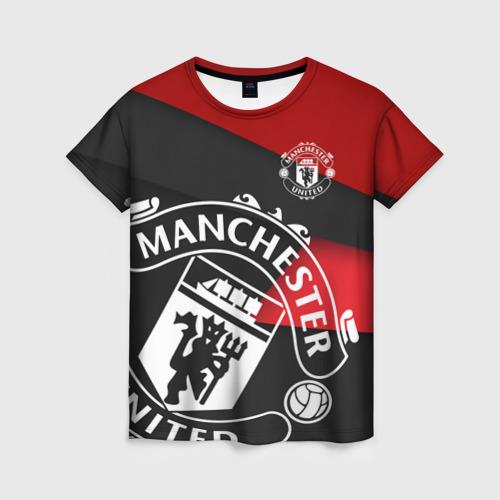 Женская футболка 3D Манчестер новый