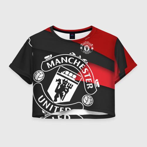 Женская футболка Crop-top 3D Манчестер новый