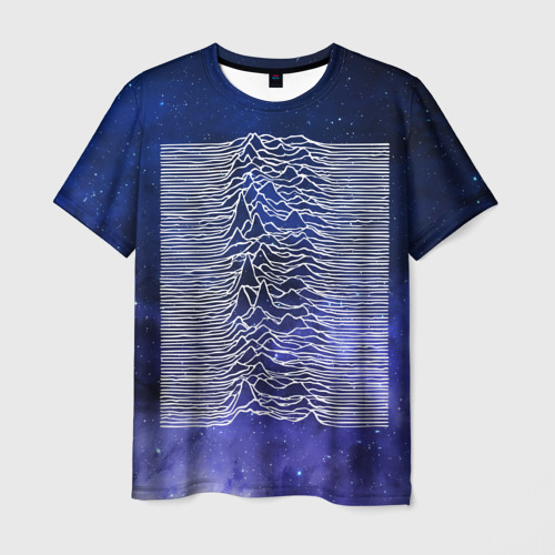 Мужская футболка 3D Unknown Pleasures