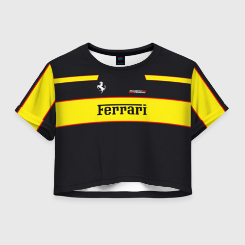 Женская футболка Crop-top 3D Ferrari