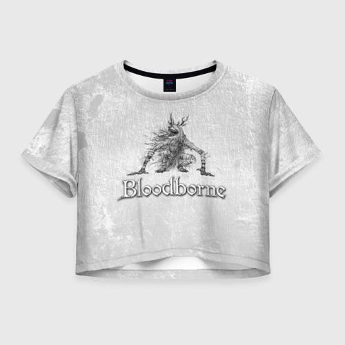 Женская футболка Crop-top 3D Bloodborne