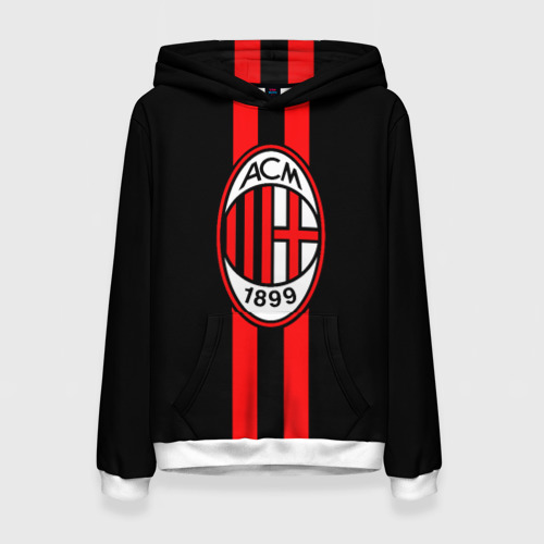 Женская толстовка 3D AC Milan FC
