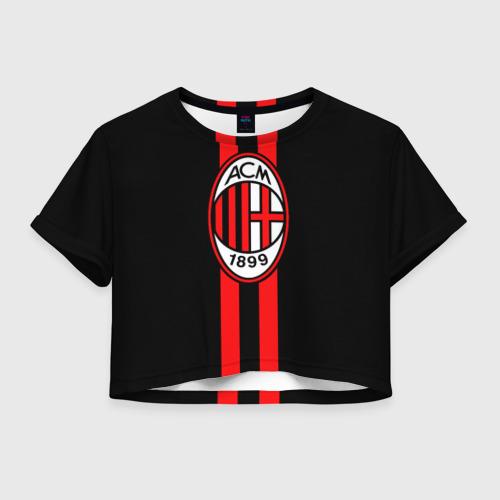 Женская футболка Crop-top 3D AC Milan FC