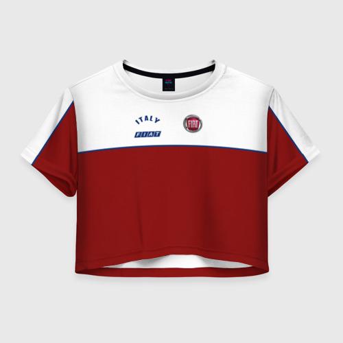 Женская футболка Crop-top 3D Fiat