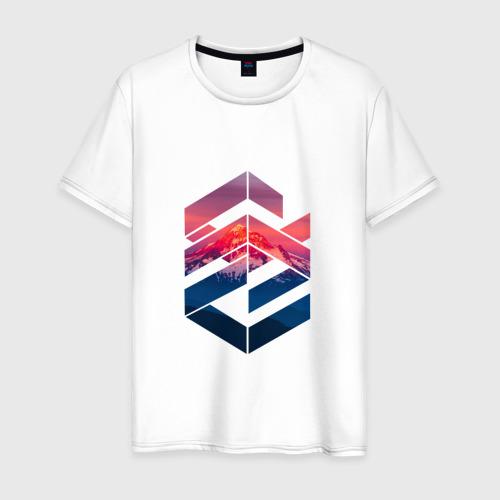 Мужская футболка хлопок Геометрические горы