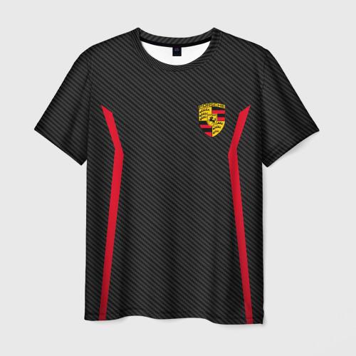 Мужская футболка 3D PORSCHE SPORT | ПОРШЕ