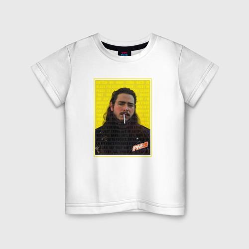 Детская футболка хлопок Post Malone - Rocksrat lyrics