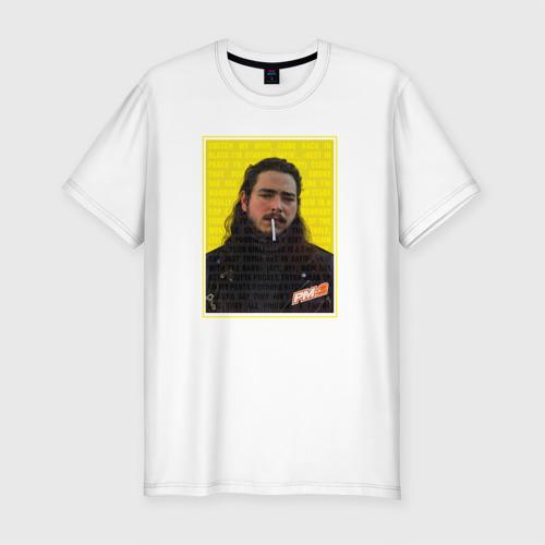 Мужская футболка премиум Post Malone - Rocksrat lyrics