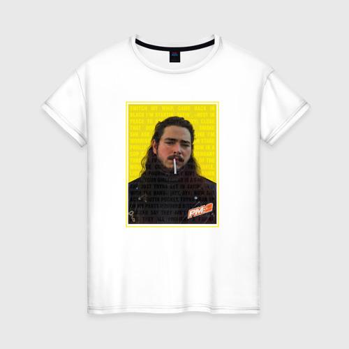 Женская футболка хлопок Post Malone - Rocksrat lyrics