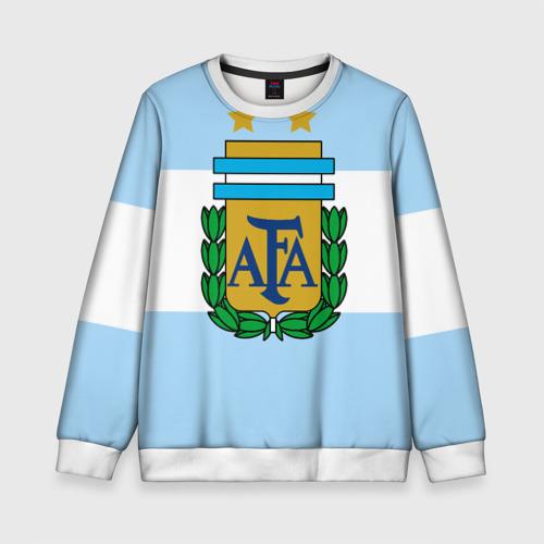 Детский свитшот 3D Сборная Аргентины флаг