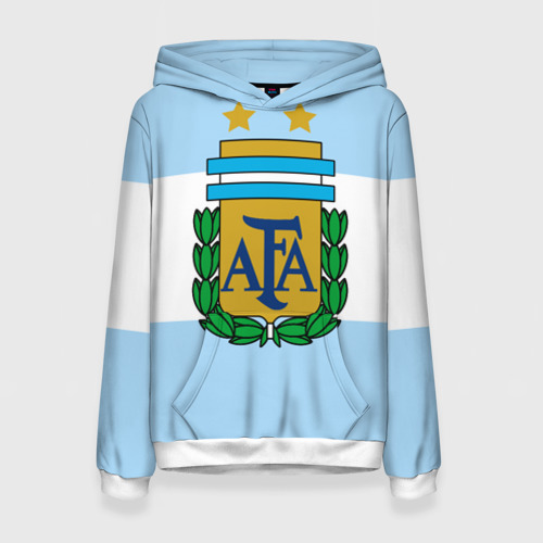Женская толстовка 3D Сборная Аргентины флаг
