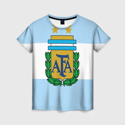 Женская футболка 3D Сборная Аргентины флаг