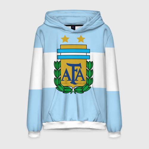 Мужская толстовка 3D Сборная Аргентины флаг