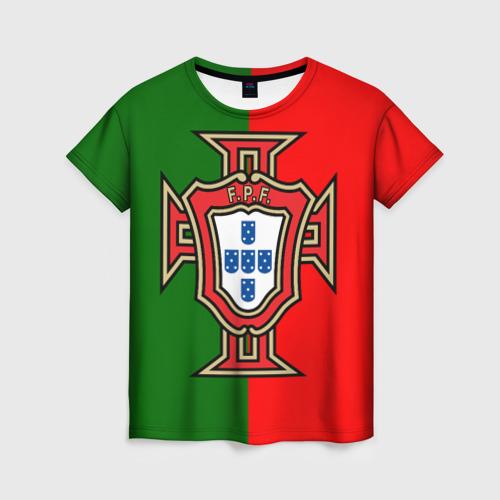 Женская футболка 3D Сборная Португалии флаг