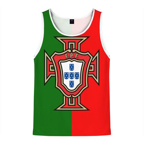 Мужская майка 3D Сборная Португалии флаг