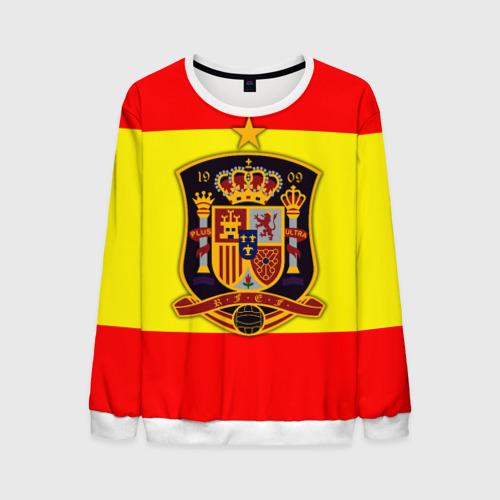 Мужской свитшот 3D Сборная Испании флаг