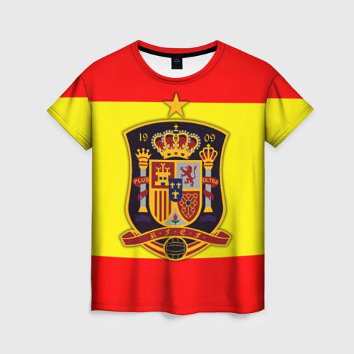 Женская футболка 3D Сборная Испании флаг