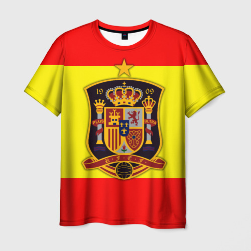 Мужская футболка 3D Сборная Испании флаг