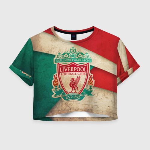 Женская футболка Crop-top 3D Ливерпуль олд
