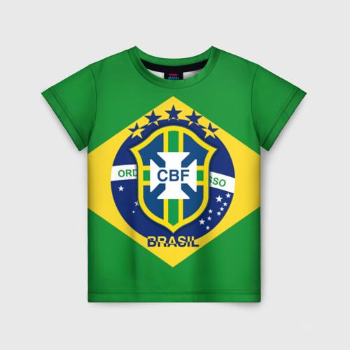 Детская футболка 3D Сборная Бразилии флаг