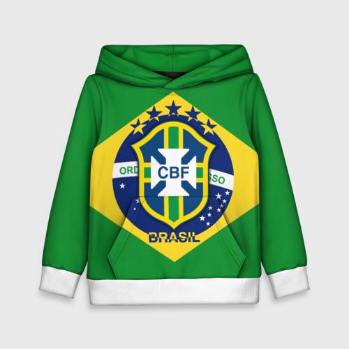 Детская толстовка 3D Сборная Бразилии флаг