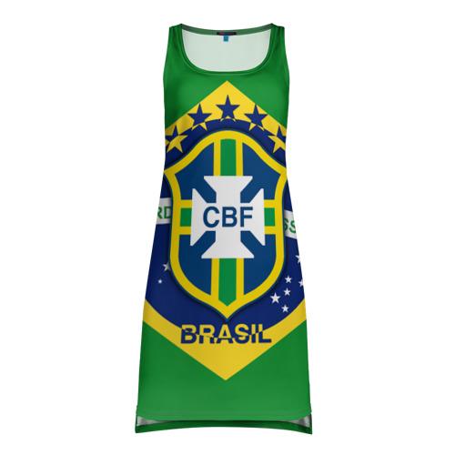 Платье-майка 3D Сборная Бразилии флаг