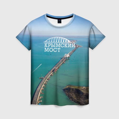 Женская футболка 3D Крымский мост