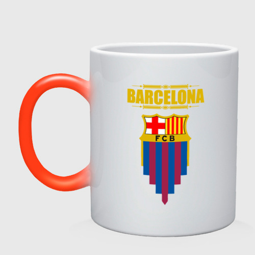 Кружка хамелеон Barcelona