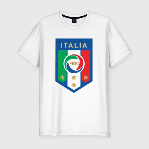 Мужская футболка хлопок Slim Сборная Италии