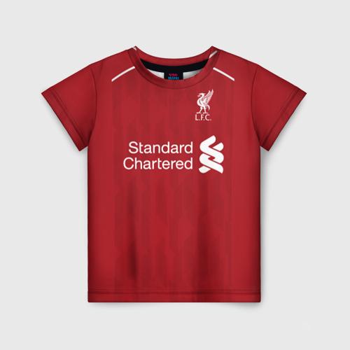Детская футболка 3D Liverpool home 18-19